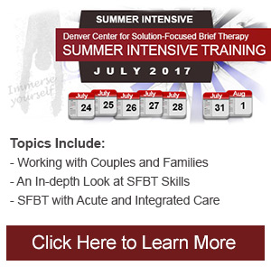 Summer Intensive Solution Focused Therapy Training Denver Colorado