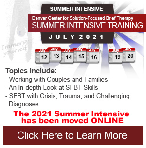 Solution-Focused Summer Intensive Training Denver Colorado by Teri Pichot